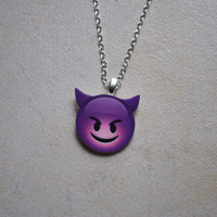 Purple Devil Emoji Necklace