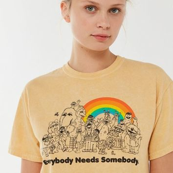 Sesame Street Everybody Needs Somebody Tee | Urban Outfitters