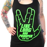 Star Trek Girls Tank Top - Live Long And Prosper