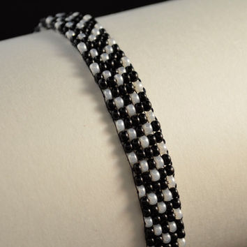 Hand Weaved Pearl Arrows Beaded Bracelet - Arm Candy & Anklet - Ankle Candy