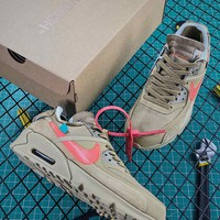Off White X Nike Air Max 90 Desert Ore Sport Running Shoes - Best Online Sale