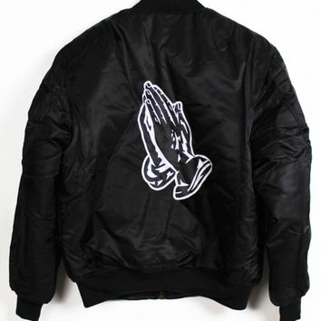 Shop :: Vintage / Branded :: Outerwear :: Pray MA-1 Bomber Jacket - Agora Clothing Products | Snapbacks | 5 Panels |