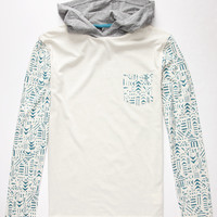 Volcom Archibald Mens Lightweight Hoodie White Combo  In Sizes