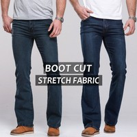 Men's Handy Long Boot Cut Stretch Jeans