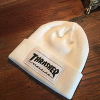 Thrasher Magazine White Beanie