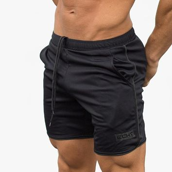 Mens summer fitness shorts leisure gyms Crossfit Bodybuilding Workout Joggers male short pants clothing