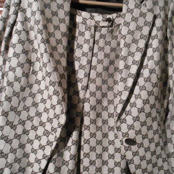 Gucci Female monogram logo pant suit ,small in size