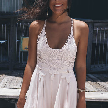 Catch Your Attention Nude Romper