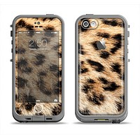 The Real Cheetah Animal Print Apple iPhone 5c LifeProof Fre Case Skin Set