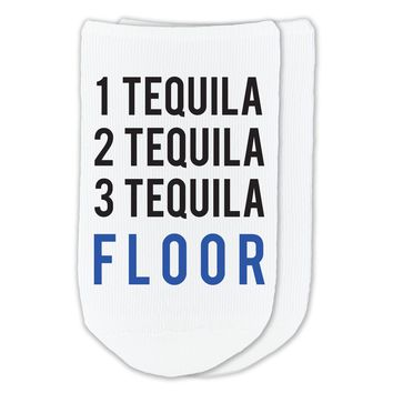 One Tequila Two Tequila Three Tequila Floor - Humorous Socks - Sold by the Pair