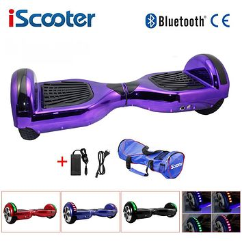 UL2722 hoverboard 6.5 inch bluetooth Chrome color Electric Skateboard steering-wheel Smart 2 wheel self Balance Standing scooter