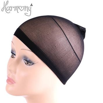 Free shipping! 30 pcs/Lot NEW Deluxe wig cap Wig Cap Stretchable Elastic Hair Net Snood Wig Cap Hairnet Hair Mesh
