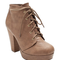 Agenda Lace-Up Booties
