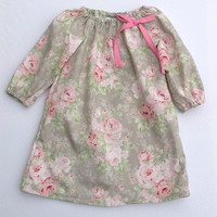 ONSALE Winter Rose Floral Long Sleeve Dress Tunic, baby, girl, toddler