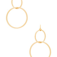 Vanessa Mooney The Interlocking Hoop Earrings in Gold