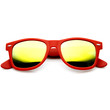 Trendy Soft Rubber Colorful Mirror Revo Lens Horned Rim Sunglasses 8999