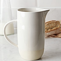 NEW Dip Glaze Pitcher - Soft White