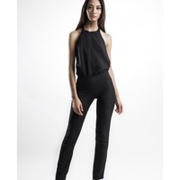 Backless Black Overall by IZAR