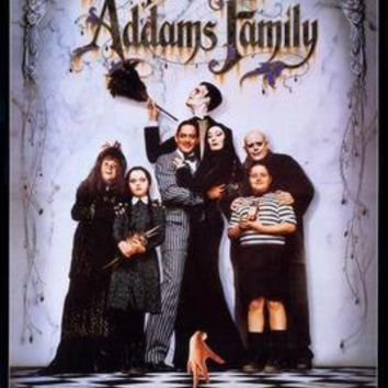 Addams Family Movie poster Metal Sign Wall Art 8in x 12in