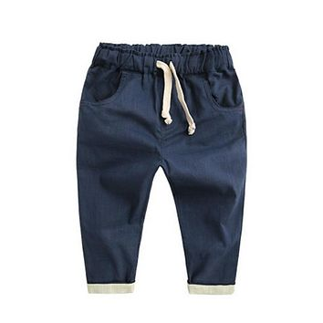 New Baby Boys Pants Casual Loose Trousers Summer Bottoms Harem Long Pants Fashion Toddlers Clothes Stylish