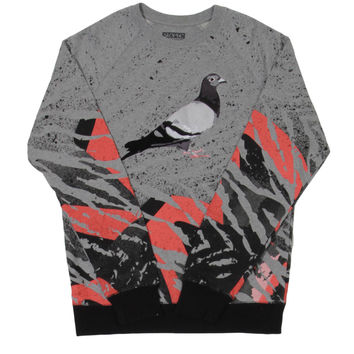 Staple - Lava Pigeon Crewneck Sweater - Grey / Medium