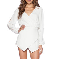 Lovers + Friends Radiance Romper in Ivory