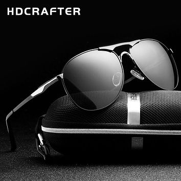 HDCRAFTER High Quality Brand Designer Sunglasses Cool  Polarized Men's Eyewear  UV Protection Oculos de sol masculino