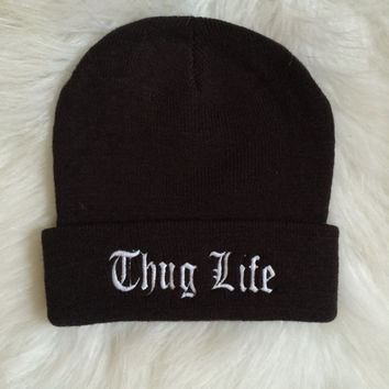 The Thug Life Beanie in Old English