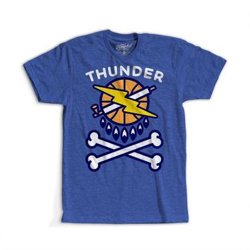 OKC Thunder Crossbones T-shirt - Blue