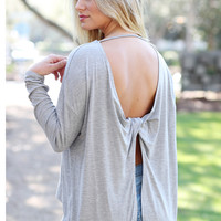 Twisted Back High-Low Top
