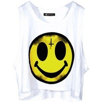 Evil Smiley Face Top