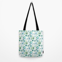 Bubbles Watercolor Tote Bag by Doucette Designs