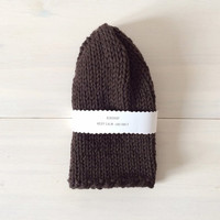 Merino Wool Hat, Christmas Gift Ideas, Hand Knit Beanie, Gift for Him