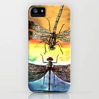 DRAGONFLY meets a Friend iPhone & iPod Case by Pia Schneider [atelier COLOUR-VISION]