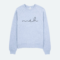 MEH printed jumper sweater | Grey or Black | Funny jumper, funny sweatshirt, cosy jumper