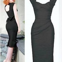 Perfect Love 1940s Pin-up Wiggle Dress