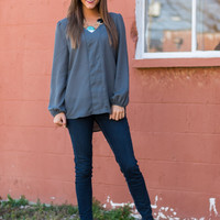 Facts Of Life Blouse, Gray