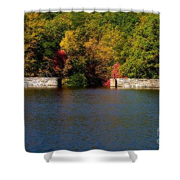 Dam At Hanging Rock Park Shower Curtain