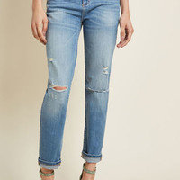 As Anticipated Distressed Straight-Leg Jeans