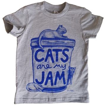 Cats are my Jam Kids T-shirt