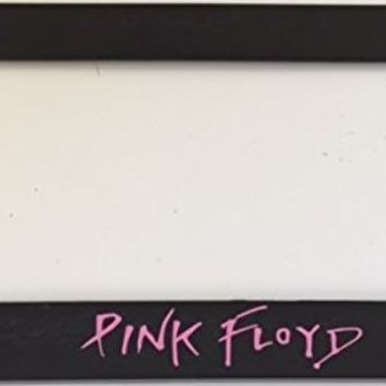 """ Pink Floyd "" Rock - Automotive Black with Pink License Plate Frame - I Love Rock Nails"