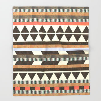 DG Aztec No.1 Throw Blanket by Dawn Gardner | Society6