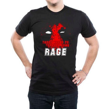Daddy Needs To Express Some Rage Deadpool Men Tshirt tee