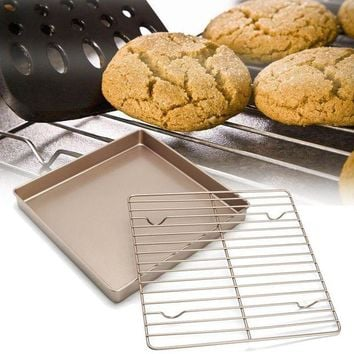 DCCKFS2 Kitchen Nonstick Cooling Rack Bread Cookies Baking Rack Stand Cake Oven Baking Pan Holder Bakeware Kitchen Tools Accessories