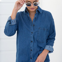 ZARA SHIRT DRESS (BLUE DENIM)
