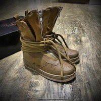 Best Online Sale Newest Nike SF Air Force 1 High AF1 Beige Functional Boots Dark Brown AA1128-204