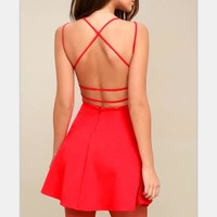 Summer Sleeveless Backless Chiffon Mini Dress