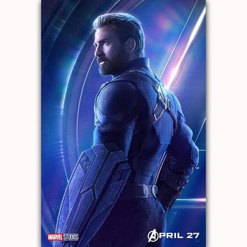 MQ3546 Avengers Infinity War Captain America 2018 Movie Character Film Art Poster Silk Canvas Home Decoration Wall Picture Print