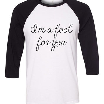 "Zayn Malik ""I'm a fool for you"" Baseball Tee"
