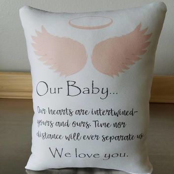 Sympathy gift pillow loss of baby gifts throw pillow loss of child gift